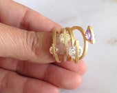 Gemstone Ring, Gold Plate...