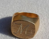 Gold Ring for Women, Sign...