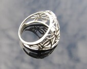 Flower Ring, 925 Sterling...