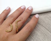 Plated Gold Ring, 925 Ste...