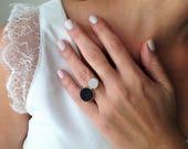 Open Ring, Druzy Ring, Mu...