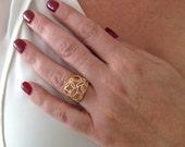 Flower Ring, Delicate Rin...