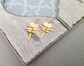 Gold Plate Earrings, Boho...