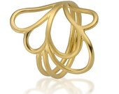 Solid Gold Ring, Unique R...
