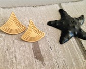 Geometric stud earrings, ...