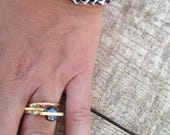 3 Ring Set, Gold Plated R...