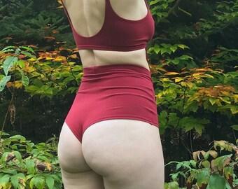 Cheeky High Waist Panties - Organic Cotton, Hemp, or Tencel blend - Comfortable Underwear