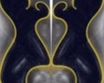 """Silver Streak Acrylic #53 1 pc Pen Blank 3//4/"""" Sq x 5/"""" Long"""