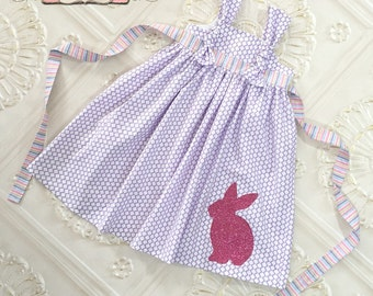 Easter Knot Dress, Easter Dress, Toddler Easter Dress, Girls Easter Dress, Easter Bunny Dress, Easter Outfit