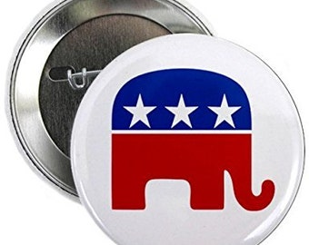 Trump 2.25 inch Pinback Button Anti Grand Old Perverts Anti GOP