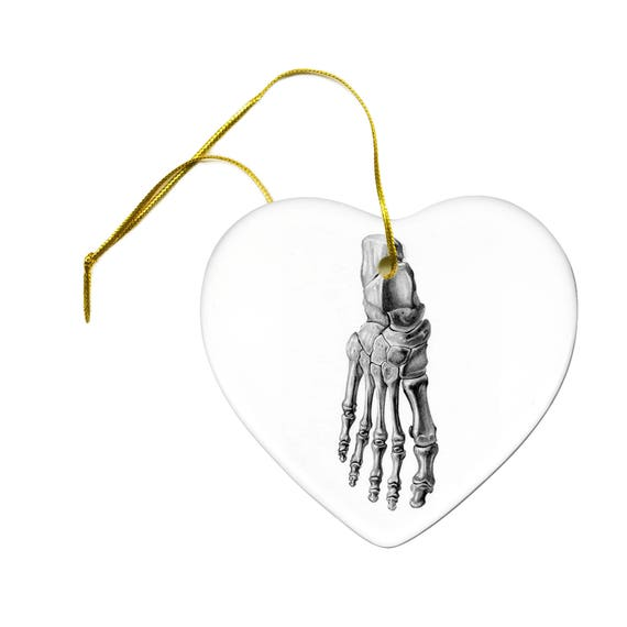 Artist Original Art Print Of Foot Bones Skeleton Anatomy Study Etsy