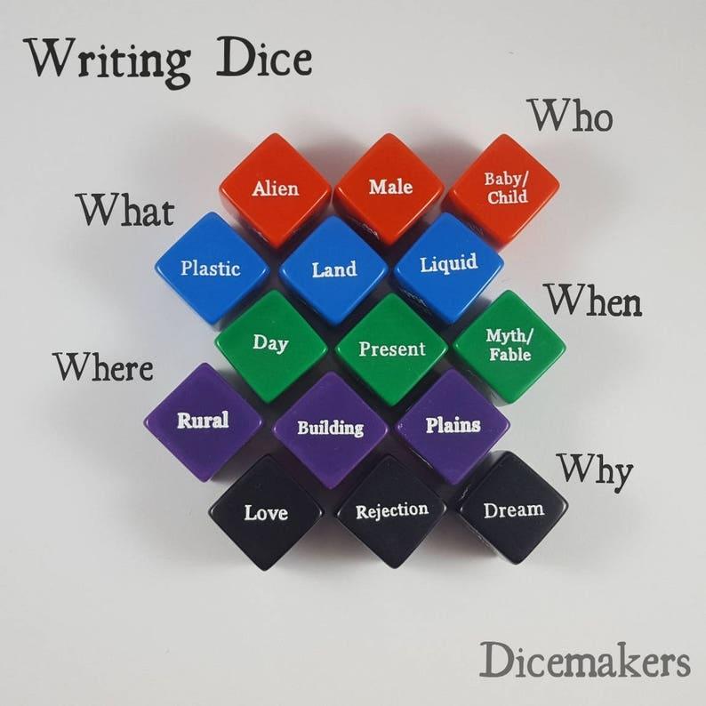 Writing Dice   nanowrimo Writing Prompts Creative Writing image 0