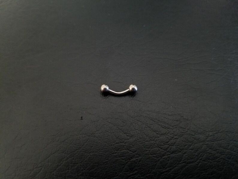 4 Curved Barbells with Balls Vertical Labret Rook Daith Snug Rings 16 gauge 16g