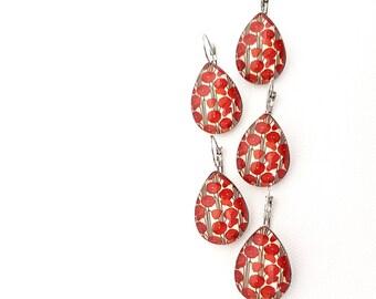 Red poppy jewelry   Etsy