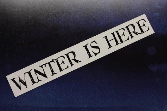 Juego Tronos Stark winter coming pegatina sticker aufkleber  vinilo