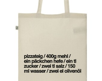 Tote Bag Pizza organic fair