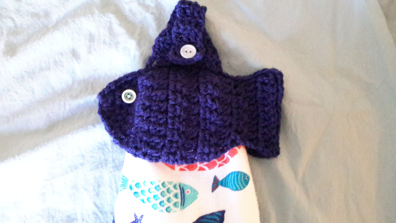 Crochet Fish Towel Topper Pattern Etsy