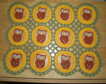 Owl See You Around -  Crochet Owls   Doily Pattern