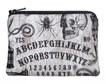 Gothic Ouija Board Change Purse Small Zipper Pouch