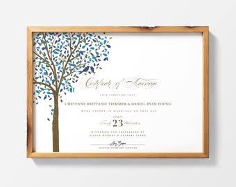 printable marriage certificate wedding certificate certificate of marriage officiant gift printable quaker marriage certificate