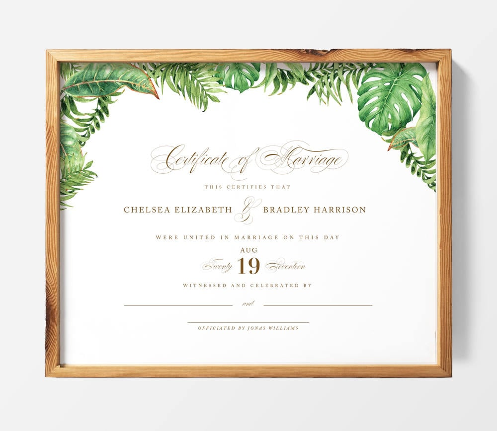 This is a graphic of Ridiculous Printable Marriage Certificate