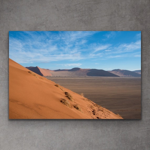 Sossusvlei Fotografie Druck | Namibia Kunst | Fotografie Druck der Wüste | Dekor der Wüste | Wüste Wandkunst | Sanddünen