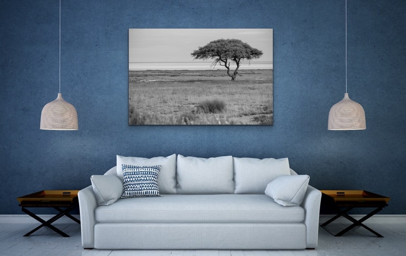 Black and White Tree Print African Landscape Photography Print Tree Wall Art Tree Wall Art African Landscape Art Landscape Print
