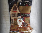 Letters to Santa Stocking PRINTED PATTERN by cheswickcompany