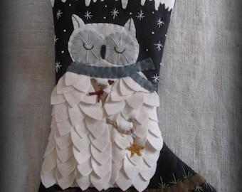 KIT Silent Night Christmas Stocking DIY by cheswickcompany