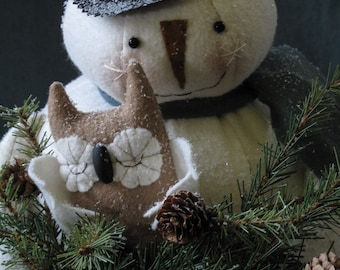 Kringle Frost Snowman and Owl E-PATTERN by cheswickcompany