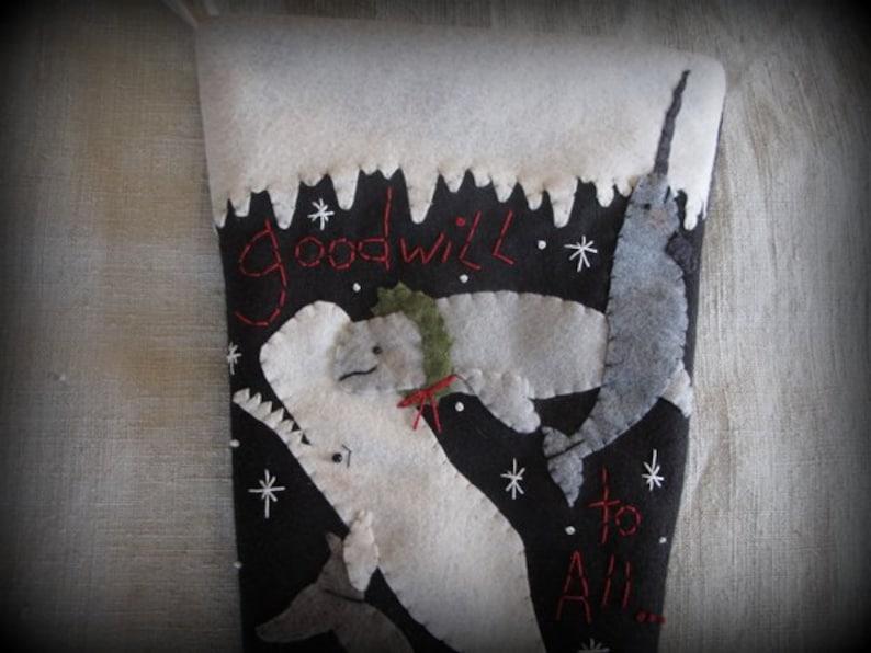 Goodwill to All Christmas Stocking KIT by cheswickcompany