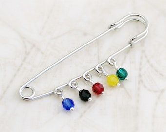 PTX inspired Safety Pin with 5 Swarovski crystals - PentaconEvent fundraiser (Pre-order for July 27 delivery)