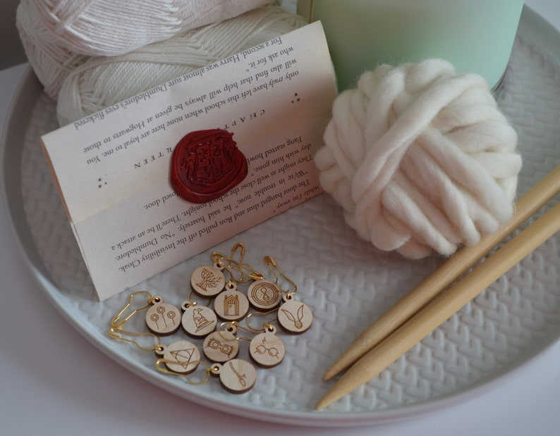 set of 10 knitting crochet wizarding stitch markers