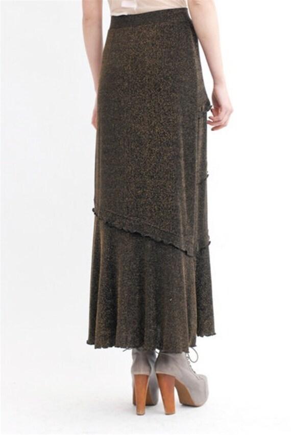 Vintage Metallic Maxi Skirt - image 4