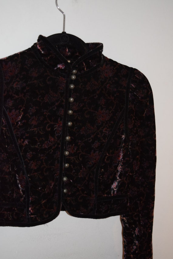 Velvet Jewel Toned Bolero Jacket