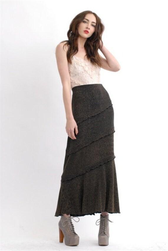 Vintage Metallic Maxi Skirt - image 2