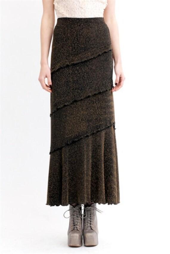 Vintage Metallic Maxi Skirt - image 3