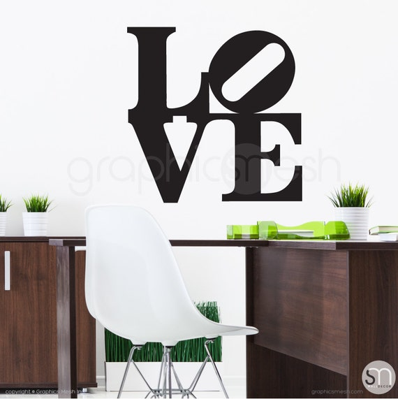 LOVE POP ART wall decal Interior wall decor by GraphicsMesh | Etsy