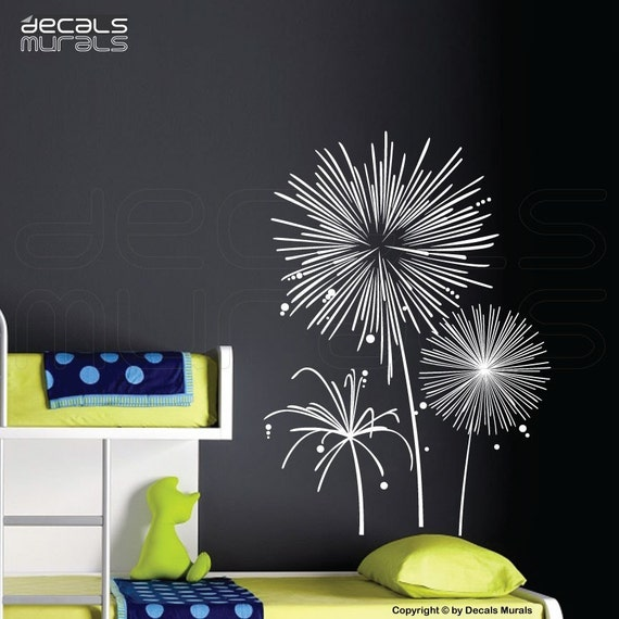wall decals fireworks vinyl art stickers wall graphics for   etsy