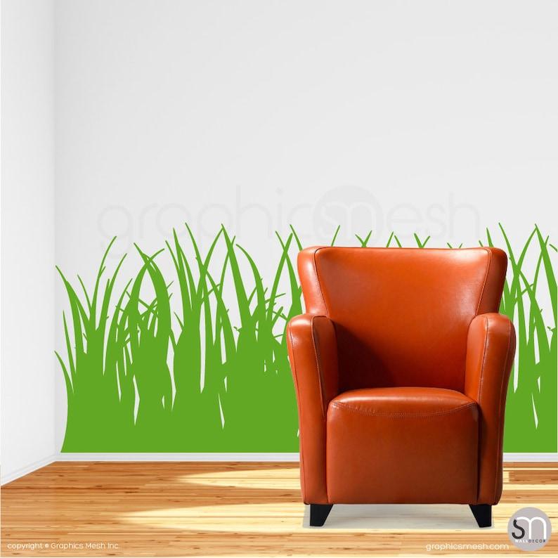 tall grass wall decals vinyl stickers interior decor   etsy