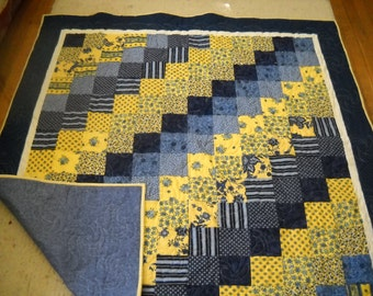 French Blue Lap Quilt
