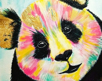 colorful panda etsy