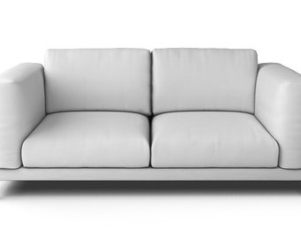 Bon IKEA Nockeby 2 Seater Sofa SLIPCOVER ONLY In Gaia White Fabric