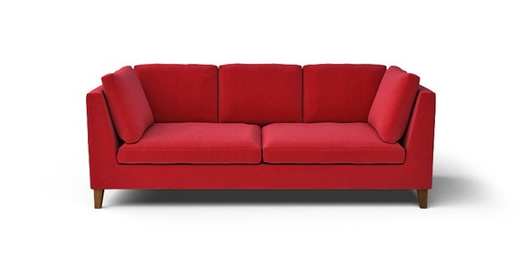 IKEA Stockholm 3 Seater Sofa SLIPCOVER ONLY in Rouge Red fabric