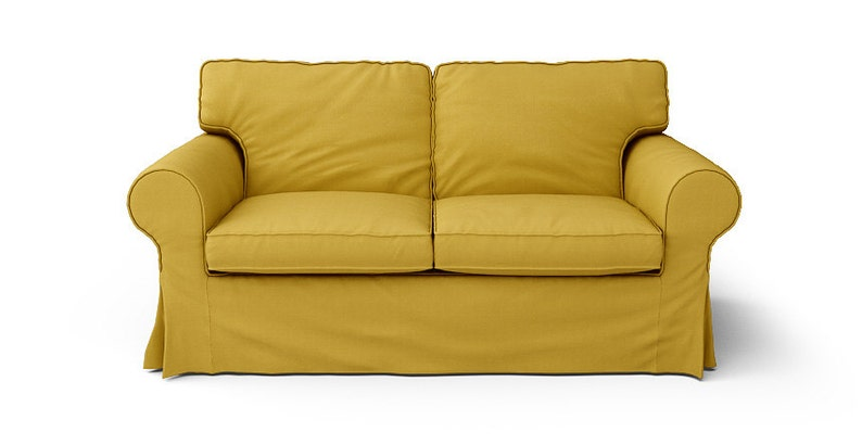 Fantastic Ikea Ektorp 2 Seater Sofa Slipcover Only In Shire Mustard Fabric Interior Design Ideas Lukepblogthenellocom