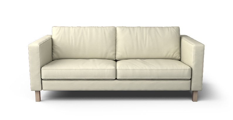 Genial IKEA Karlstad Sofa (3 Seater) SLIPCOVER ONLY In Kino Natural Fabric