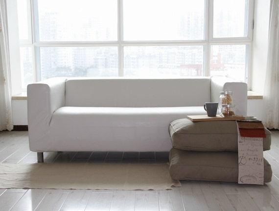 Divano Klippan Ikea.Divano Klippan Ikea Personalizzato Coprire 2 Posti In Pelle Bycast Bianco Modena