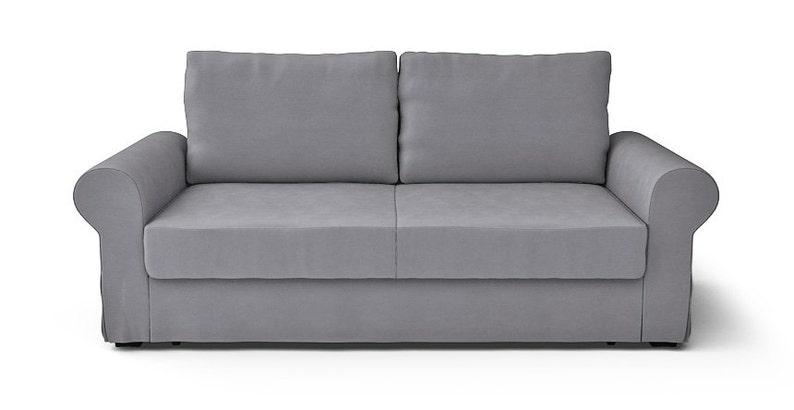 Pleasing Ikea Backabro 3 Seater Sofa Slipcover Only In Rouge Ash Fabric Interior Design Ideas Lukepblogthenellocom