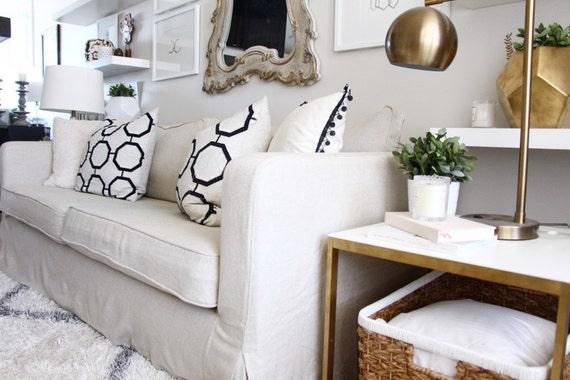 Custom IKEA Karlstad Sofa Slipcover 3 Seater With Long Skirt | Etsy