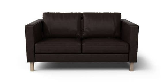IKEA Karlstad 2 Seater SLIPCOVER ONLY in Urbanskin Kramfors bycast leather